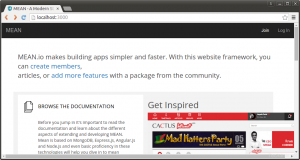 mean stack home page